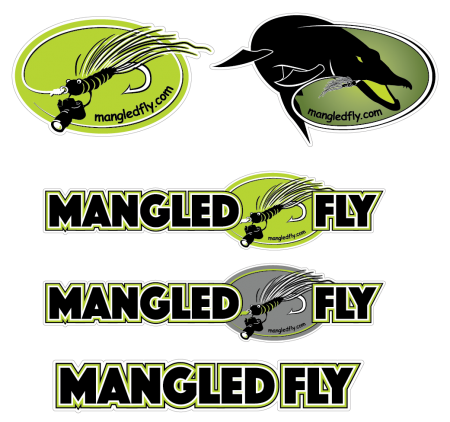 Mangled Fly Stickers