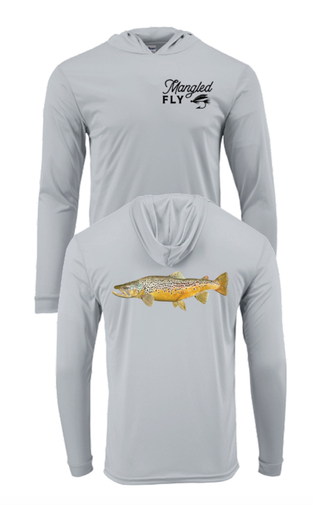 Manistee River Brown Trout Sun Shirt